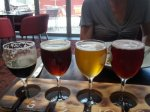 The tasting paddle from the Albion Hotel in Newcastle. Are those samples big enough to qualify as Untappd check-ins?