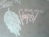 Part of the artwork on the brewery wall at HopDog.