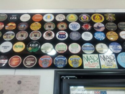 A selection of decals at the bottle shop at Warners at the Bay - the last stop on my birthday celebrations.