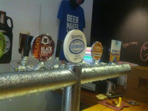 Someof the taps at the Illawarra Brewing Company brewhouse for Craft Beer Rising.