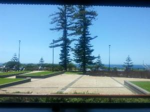 The view of the ocean from the verandah of the Illawarra Brewery.