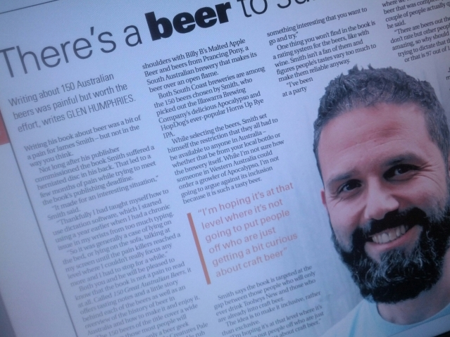 A story a lesser-known beer writer (me) wrote about a more well-known one (James Smith from The Crafty Pint).