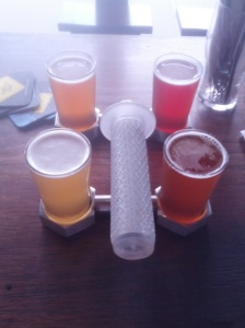 """The unique Bentspoke Brewery tasting """"pedal""""."""