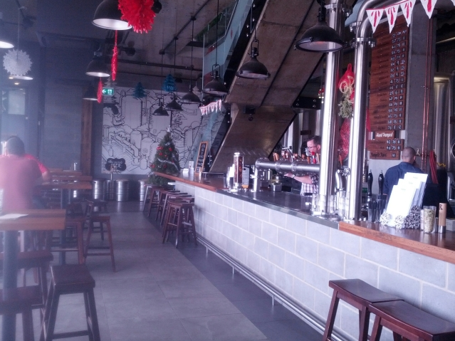 The downstairs bar at Bentspoke Brewery.