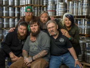 The cast of new beer-related TV series Dark Horse Nation.
