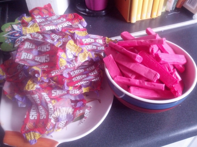 This is how many Redskins I planned to add - 50. But during the boil I realised I'd have to double that.