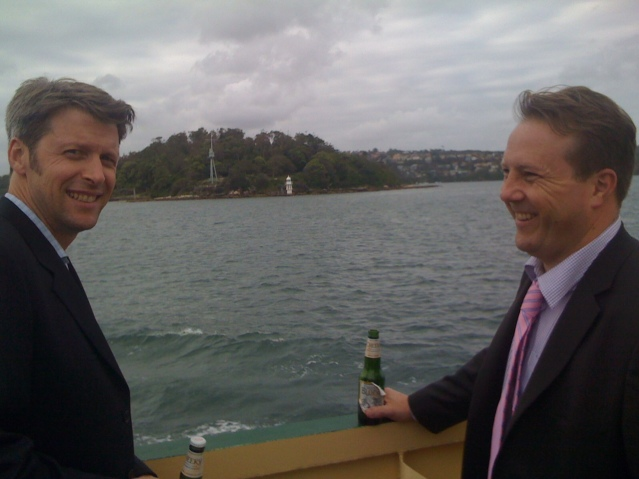The two creators of Back of the Ferry - illiards and Bladdamasta.
