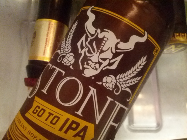Once upon a time I was excited to see a Stone beer. Now I can't even be bothered to take it out of the fridge before taking a photo.